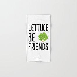 Lettuce Be Friends #lettuce #illustration #veggie #vegan #friends #green #veggiegift Hand & Bath Towel