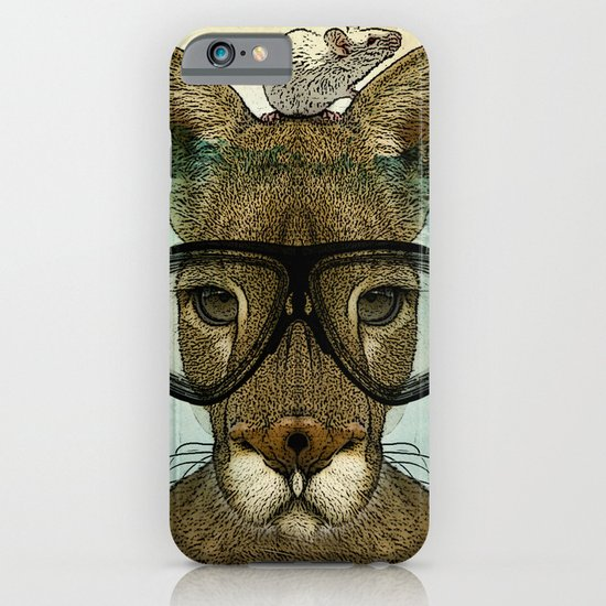 Skuba Roo and a white mouse iPhone & iPod Case