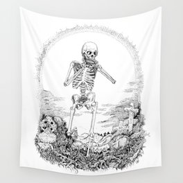 Death and Harmonica Wall Tapestry