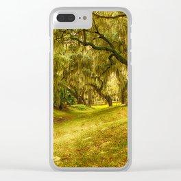 Yellow morning in Georgia Clear iPhone Case