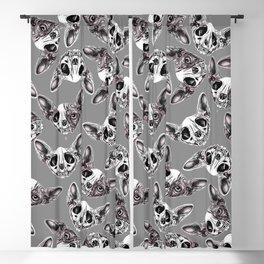 Shynx Half Skull Pattern Blackout Curtain