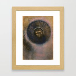 Head within an Aureole - Odilon Redon Framed Art Print