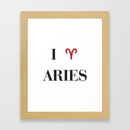 I heart Aries Framed Art Print