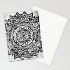 BLACK JEWEL MANDALA Stationery Cards