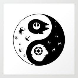 yin and yang star war Art Print