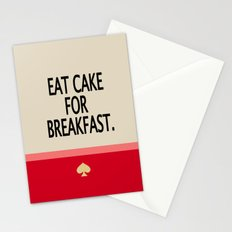 Kate Spade Inspired Eat Cake For Breakfast Stationery Cards