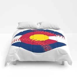 Colorado Flag Baseball Comforters