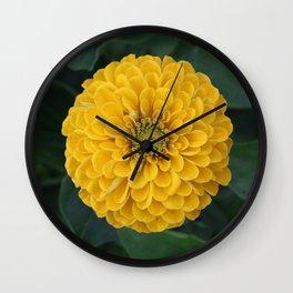 Yellow Zinnia Wall Clock