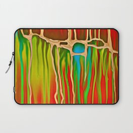 Distant Trees in Orange and Lime Laptop Sleeve