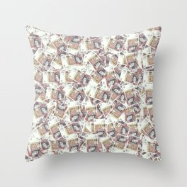 Giant money background 50 pound notes / 3D render of thousands of 50 pound notes Throw Pillow
