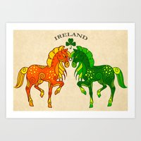 ruben ireland Art Prints featuring Ireland by StudioBlueRoom