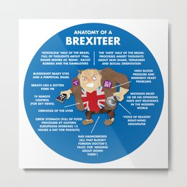 ANATOMY OF A BREXITEER Metal Print