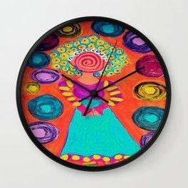 Spiralling Wall Clock