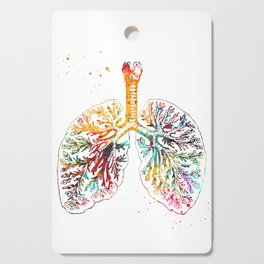 Anatomical Lungs Cutting Board