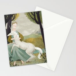 The Maiden and the Unicorn Stationery Cards