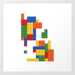 Lego Art Print