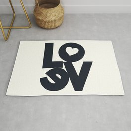 Love, tyopgraphy illustration, gift for her, people in love, be my Valentine, Romantic lettering Rug