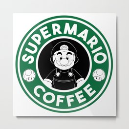 SuperMario Coffee Metal Print