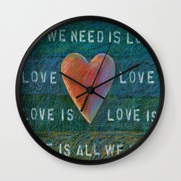All You Need Is Love 2 Wall Clock