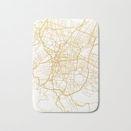 MEXICO CITY MEXICO CITY STREET MAP ART Bath Mat