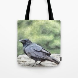 Crows Everywhere Are Equally Black Tote Bag
