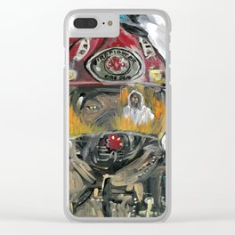 Christian fire Fighter Clear iPhone Case