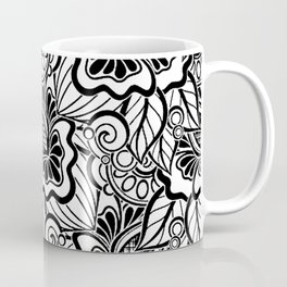 Vintage Art Deco Floral Coffee Mug