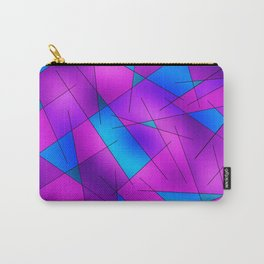 ABSTRACT LINES #1 (Purples, Violets, Fuchsias & Turquoises) Carry-All Pouch