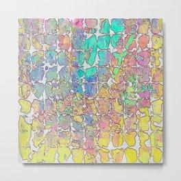 Pastel Abstract Blocks Metal Print