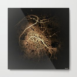 Paris map lights Metal Print