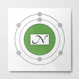 Nitrogen - Bohr Model Metal Print