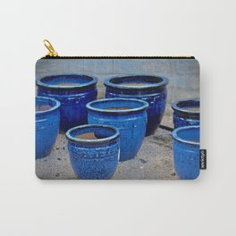 Blue Clay Pots Carry-All Pouch