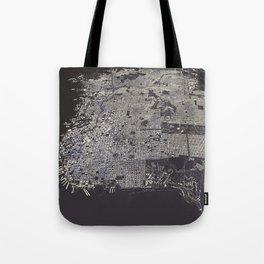 San Francisco City Map Tote Bag