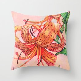 Tiger Lilies Trio Throw Pillow