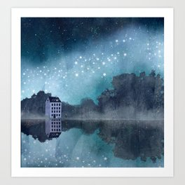 two different dimensions Art Print