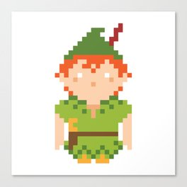 Pixel Character Canvas Print