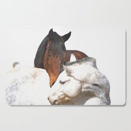 Horses in Love Cutting Board