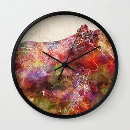 Muscat map Wall Clock