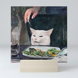 Woman Yelling at Cat Meme-2 Mini Art Print