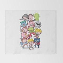 80's Babies Throw Blanket