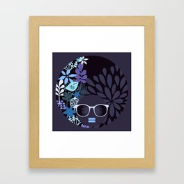 Afro Diva : Lavender Periwinkle Framed Art Print