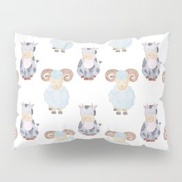 Cow and Sheep Pattern Pillow Sham