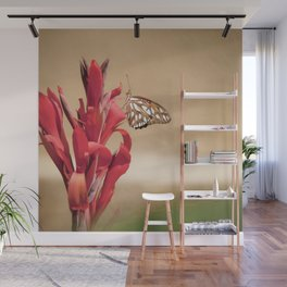"""Gulf Fritillary 2"" by Murray Bolesta! Wall Mural"