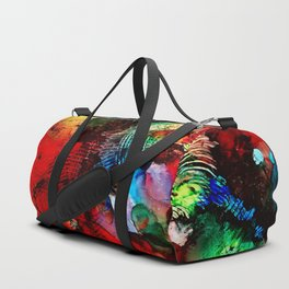 Red Abstract 101 Duffle Bag