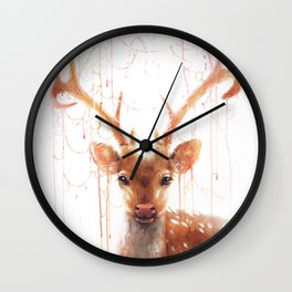 Fairy Deer Wall Clock