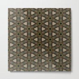 Wagon Wheel Circular Weave | Pattern Metal Print