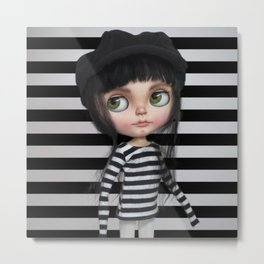 Stripes Style Blythe by Erregiro Metal Print