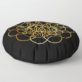 Flower or circle of life Floor Pillow