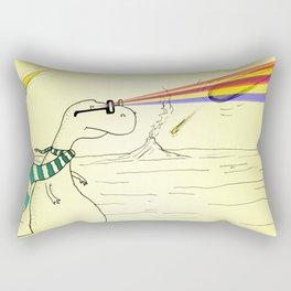 Hipster Laser Dinosaur Rectangular Pillow