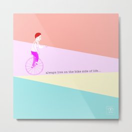 the unicyclist Metal Print